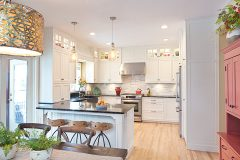 Open Concept Modern Classic  Kitchen Design with Dinning Area
